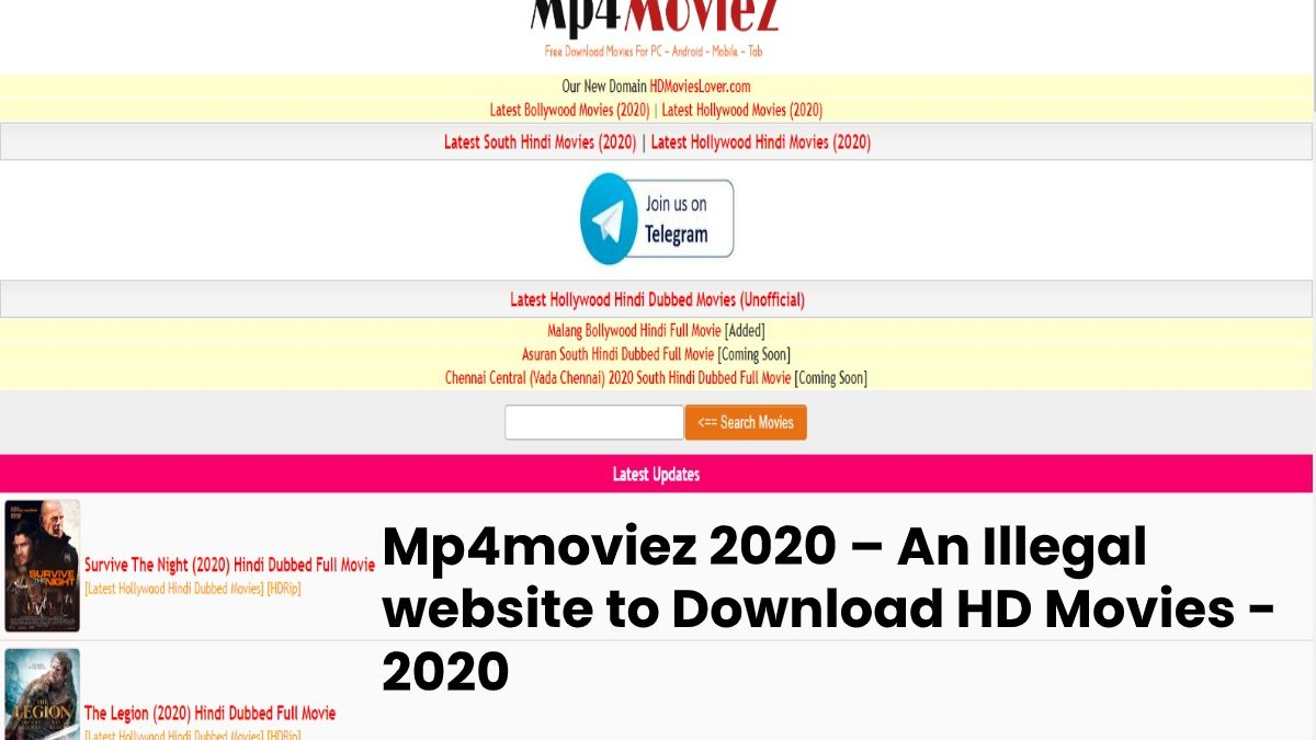 Mp4moviez 2020 – An illegal Website to Watch and Download Latest Hollywood and Bollywood Movies