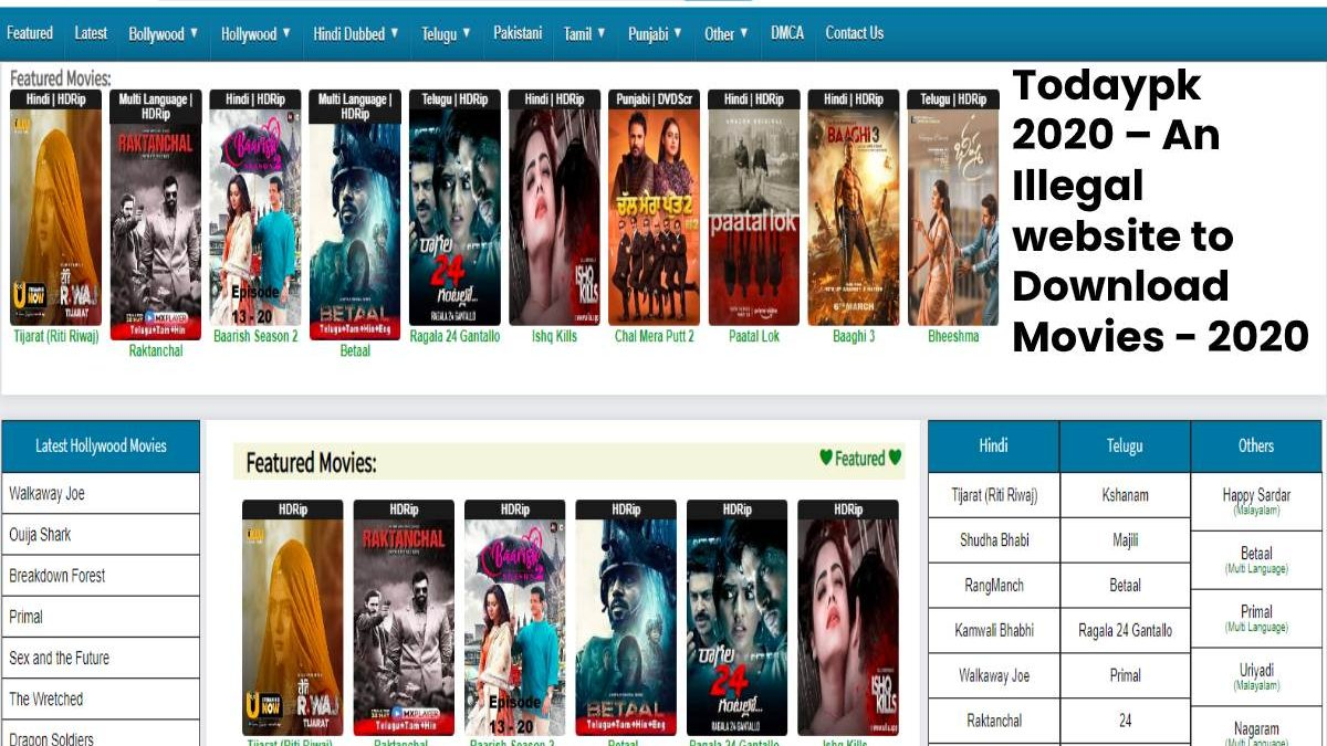 Todaypk 2020 Illegal Website To Download Telugu Movies Todaypk Movies