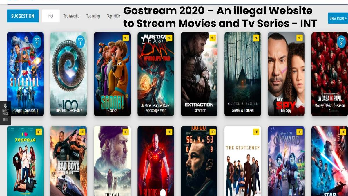 Gostream 2020: illegal Website to Watch Movies and Shows Online for Free Gostream Movies