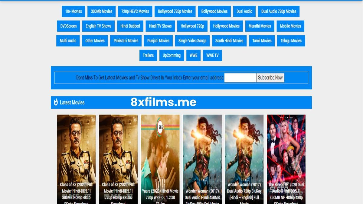 What is 8xfilms.me? – Watch and Download Hollywood, Bollywood  Movies Online