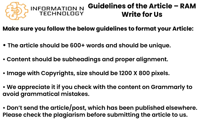 guidelines for the article informationntechnology - RAM Write for Us