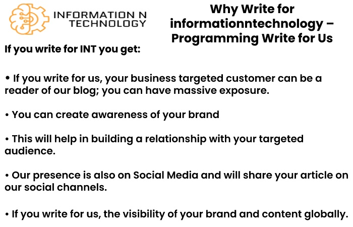 why write for us informationntechnology - Programming Write for Us