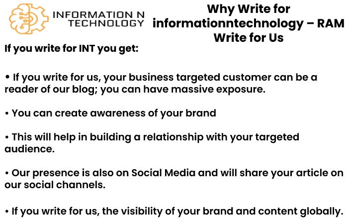 why write for us informationntechnology - RAM Write for Us