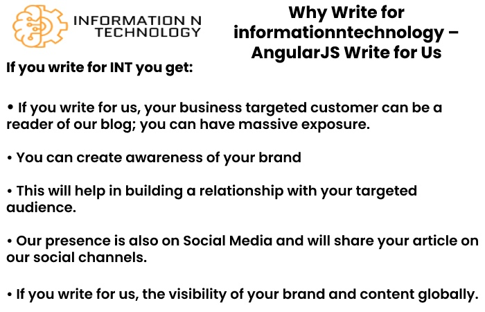why write for us informationntechnology - AngularJS