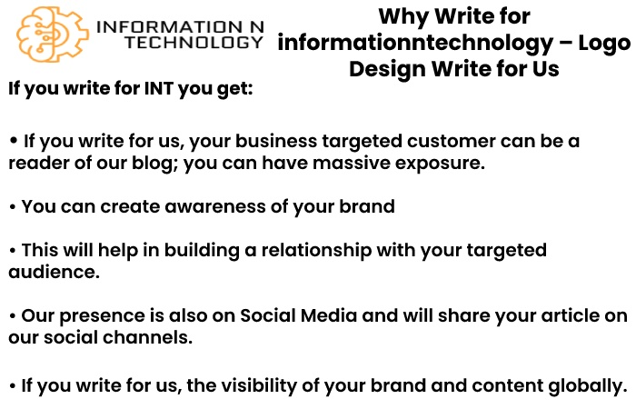 why write for us informationntechnology - logo Design Write for Us