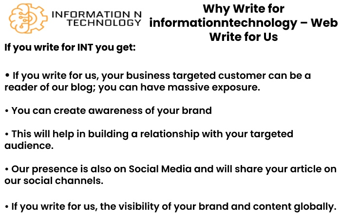 why write for us informationntechnology - Web Write for Us